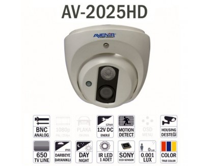 Avenir Av-2025HD Dome Kamera