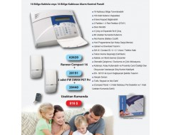 Crow Runner Compact 16 Kablosuz Alarm Paneli Keypad Dedektör ve Kumanda Seti